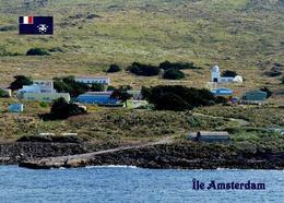 Amsterdam Island Martin-de-Viviès Base View TAAF New Postcard - TAAF : Franz. Süd- Und Antarktisgebiete