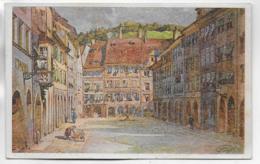 AK 0298  Feldkirch - Marktplatz / Alpenländische Kunst Um 1920 - Feldkirch