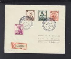 Dt. Reich R-Brief Garmisch Sonderstempel 1936 Nach Schweiz - Briefe U. Dokumente