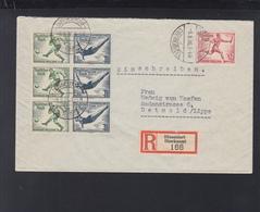 Dt. Reich R-Brief Düsseldorf 1936 ZD - Briefe U. Dokumente