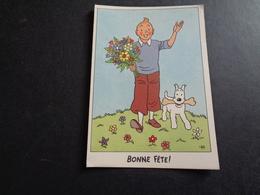 Illustrateur ( 1189 )  Hergé  Tintin  Kuifje  Bonne Fête  Imprimerie Casterman - Hergé