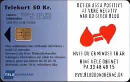 ! 50 Kr Telefonkarte, Telekort, Phonecard, 1998, R16 Dänemark, Tele Danmark, Denmark, Blood - Dänemark