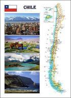Chile Country Map New Postcard Landkarte AK - Chile