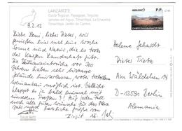 Spain - Lanzarote - PRIVAT PRE-PAYE TICKET - BIGLIETTO PRE-PAGATO - Private Post - Swiss Post P.P. Stamp - Lanzarote