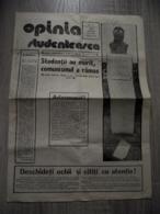 Romania - Iasi - Students Opinion - Independent Newspaper After 1989 Revolution - Cultural Magazine - 1990 - 4 Pages - Boeken, Tijdschriften, Stripverhalen