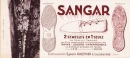 B81305 LACABAREDE 1 Buvard Espadrille SANGAR Etablissements Sylvain GAUTHIER + 1 CPA Vue Générale Cppub 1930s - Altri Comuni