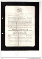 Douairiere De Formanoir De La Cazerie Née Van Delft °St Marcoult Silly1837 +7/1/1926 Templeuve Crombrugghe De Looringhe - Todesanzeige