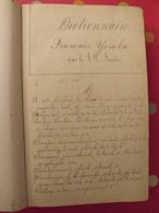 Dictionnaire Français-yoruba Et Yoruba-français Par Le RP Baudin. 1885. Impression Manucriste. 1172 Pages - Libri, Riviste, Fumetti