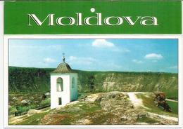 Cave Monastery,Orheiul Vechi (13th Century), Postcard Moldova Sent To Andorra, With Arrival Postmark - Moldavië
