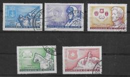 CILE - 1974 - GIORNATA DELLE FORZE ARMATA - SERIE CPL. 5 VAL. USATI (YVERT 408/411 - MICHEL 797/801) - Cile