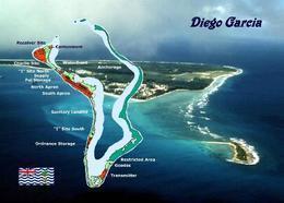 Diego Garcia Map New Postcard Insel Landkarte AK - Ansichtskarten