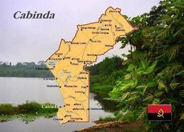Cabinda Exclave Map Angola New Postcard Landkarte AK - Angola