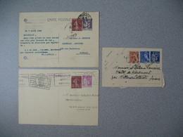 Entier Postal  Lot  Carte Postale  Et Carte Lettre   Type  Paix     à Voir - Postal Stamped Stationery