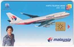 INDONESIA A-283 Chip Telekom - Traffic, Airplane - Used - Indonesien