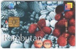 INDONESIA A-285 Chip Telekom - Plant, Fruit - Used - Indonesien