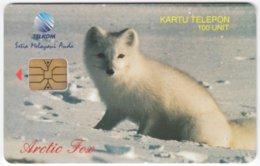 INDONESIA A-298 Chip Telekom - Animal, Arctic Fox - Used - Indonesien
