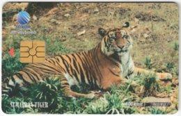 INDONESIA A-307 Chip Telekom - Animal, Cat, Tiger - Used - Indonesien