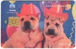 INDONESIA A-325 Chip Telekom - Animal, Dog - Used - Indonesien