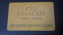 USA Prepaid Card Princess Crew Calling Card - Etats-Unis