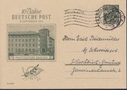 DDR  P 66,  Gebraucht, Stempel: Halle 7.4.1956 - Postkarten - Gebraucht
