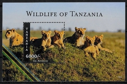 TANZANIE - ANIMAUX SAUVAGES - LIONS - BF 606 - NEUF** - Big Cats (cats Of Prey)