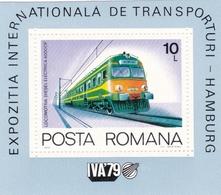 Rumänien, 1979, 3680 Block 166, MNH **,  Internationale Verkehrsausstellung, Hamburg: Lokomotiven. - Blocks & Kleinbögen