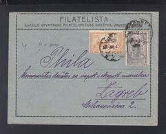 Yugoslavia Local Cover Zagreb - 1919-1929 Kingdom Of Serbs, Croats And Slovenes
