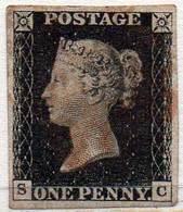 GREAT BRITAIN 1840 1d Black Plate 4 (SC) - 1840-1901 (Victoria)