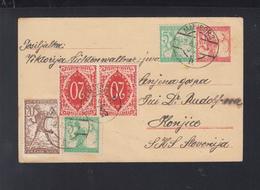 Yugoslavia Stationery Uprated Maribor 1920 - 1919-1929 Königreich Der Serben, Kroaten & Slowenen