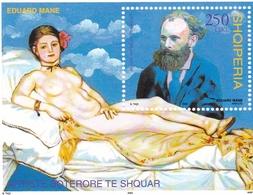 2003, Albanien,  Block 148, Gemälde Von Edouard Manet.  MNH ** - Albanie