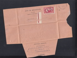 France Avis De Reception 1924 - Postmark Collection (Covers)