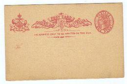 """Australien/Queensland, Ungebrauchte """"POST CARD"""" Mit Eingedruckter Frankatur """"one Penny"""" (9227W) - 1860-1909 Queensland"""