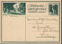 SCHWEIZ MiNr. P 143 I, ZNr. 122.4, Bildpostkarte: Biel (Bienne), Gestempelt: Genf 13.XII.1930 - Ganzsachen