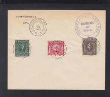 Couvert Conference De Spa 1920 - Annnullo Di Favore