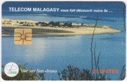 MADAGASCAR A-042 Chip Telecom - Landscape, Coast - Used - Madagaskar