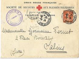 13- Cachet De L'Hôpital Aux N°41 De Tarascon / Rhone Sur Lettre à En-tête De La Croix-rouge De Tarascon - WW I