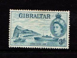 GIBRALTAR    1953    3d  Light  Blue      MNH - Gibraltar