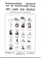 Tijdschrift Het Land Van Nevele - Artikels Oa Hansbeke & Poesele ,Landegem - 1989 - History