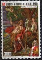 PIA - SMOM - 1973 - San Giovanni Battista - Quadro Di Mattia Preti  -  (UN  85) - Religione