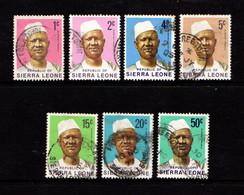 SIERRA  LEONE    1972    President  Siaka  Stevens    Part  Set  Of  7    USED - Sierra Leone (1961-...)