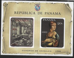 PANAMA - 1967 - DURER - L. DA VINCI - QUADRI CON ANIMALI - FOGLIETTO NUOVO **( MICHEL BL 78) - Arte