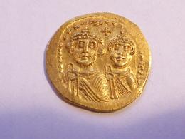 Empire De Byzance Heraclius Et Son Fils Heraclius Constentin 6123-630 - Byzantine
