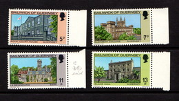 GUERNSEY    1976    Christmas  Buildings    Set  Of  4    MNH - Guernsey