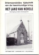 Tijdschrift Het Land Van Nevele - Artikels Over Kapellen Oa Hansbeke ,Poesele , Lotenhulle , Landegem - 1987 - Histoire