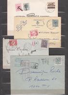 Lot De 4 Cartes Et Envlp     Avec Taxe - Postage Due