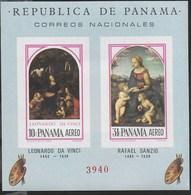PANAMA - 1966 - MADONNE - L. DA VINCI - R. SANZIO - FOGLIETTO NUOVO **( MICHEL BL 50) - Arte