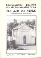 Tijdschrift Het Land Van Nevele - Artikels Over Kapellen Oa Hansbeke Vinkt Poeke Merendree Meigem Bachte  1988 - Histoire