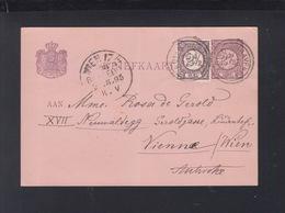 Niederlande GSK Mit ZuF 1895 Nach Wien - Briefe U. Dokumente