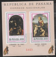 PANAMA - 1966 - MADONNE - L. DA VINCI - R. SANZIO - FOGLIETTO NUOVO **( MICHEL BL 49) - Arte