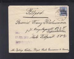 Besetzung Rumänien Romania Brief MViR 1918 Ploiesti Nach Feldpost 502 - Occupation 1914-18